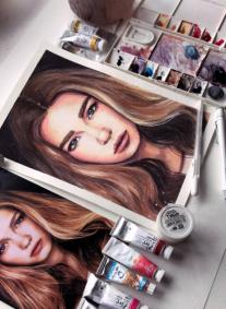 Постер: Акварельный портрет